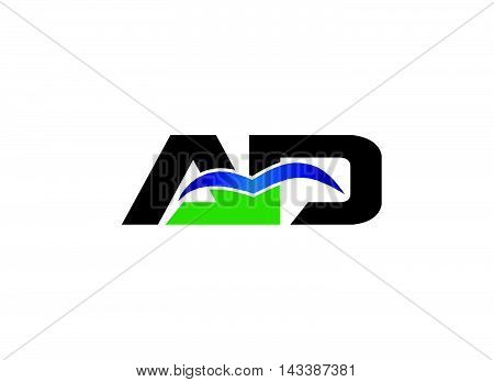 Letter a and d logo vector design