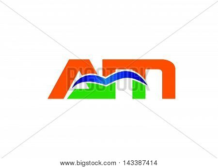 Letter a and M logo vector design