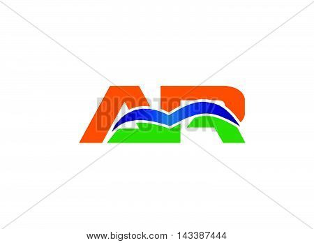 Ar logo letter. AR company linked letter logo