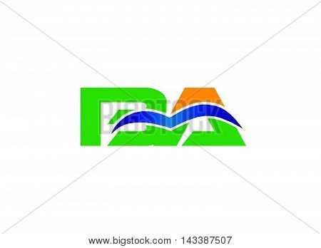 AB company group linked letter logo design
