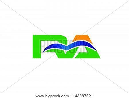 Ar logo letter. Elegant black and gold alphabet A and R letter logo. Vector illustration