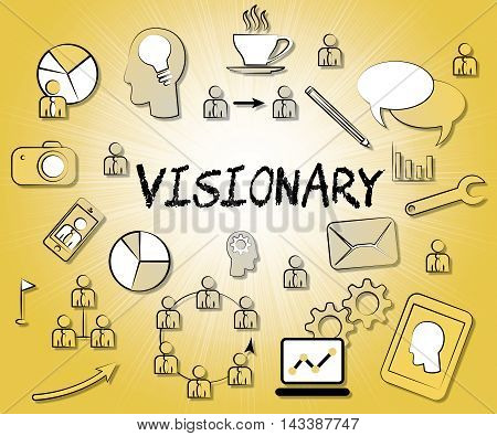 Visionary Icons Represents Insights Strategist And Ideals