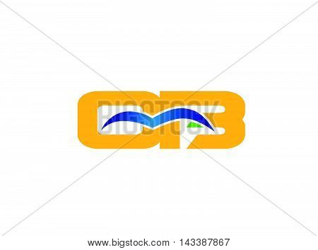 OB initial company group logo vector template