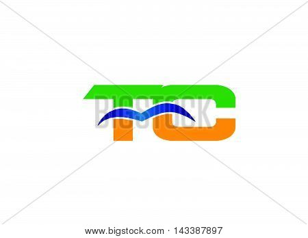 Letter T and C logo vector design