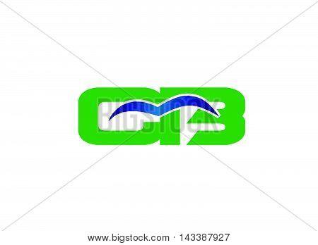 Elegant alphabet B and C letter logo. BC Vector illustration