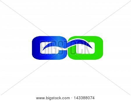 CO initial company group logo design template