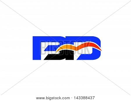 Letter B and D logo. BD company linked letter logo