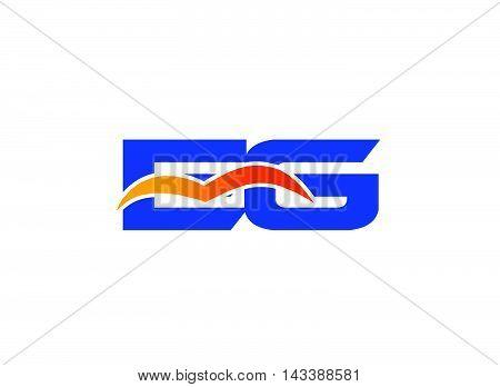 EG Logo. EG company linked letter logo