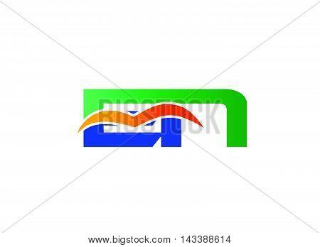 EN Logo. EN company linked letter logo