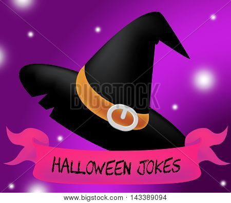 Halloween Jokes And Funny Haunting Gags 3D Illustration