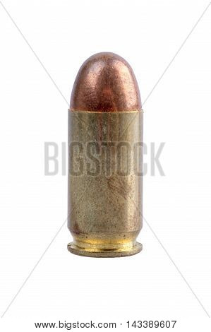 Gun bullet isolated on a white background