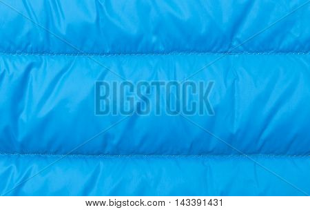 Close up of blue background made of warm textile