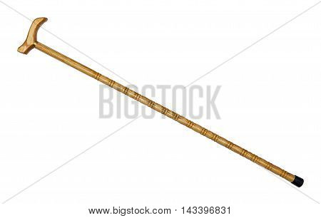 Walking stick isolated on the white background