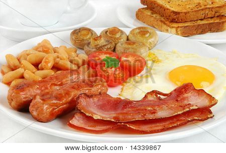 English breakfast poster