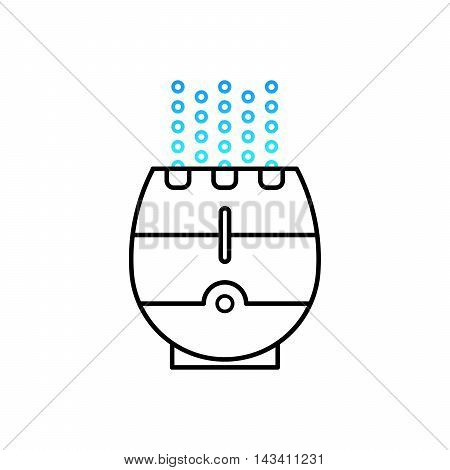 Vector illustration of a humidifier for children's room. Lne vector humidifier icon. Air purifier.