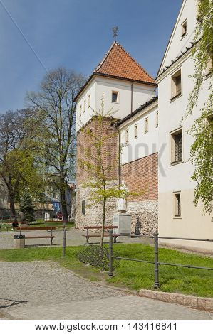 Poland Upper Silesia Gliwice Piast Castle part of municipal museum sunlit springtime