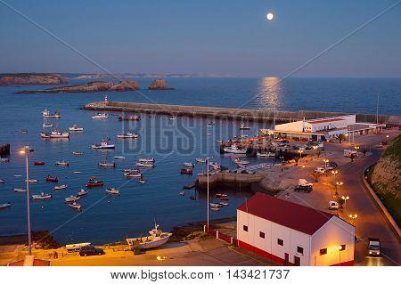 Ocean Marina At Night