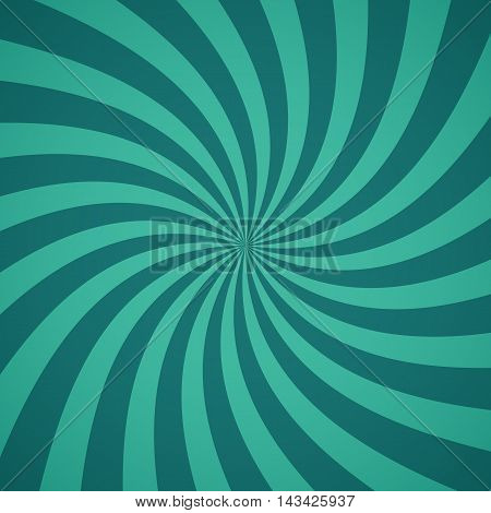 Vintage radial pattern background. Vector illustration for swirl design. Vortex starburst spiral twirl square. Helix rotation rays. Converging psychadelic scalable stripes. Retro sun light beams.