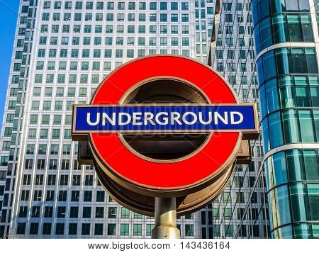 London Underground Sign (hdr)