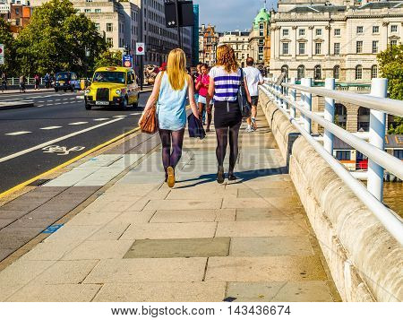 London, England, Uk - September 27, 2011: People Crossing The Wa