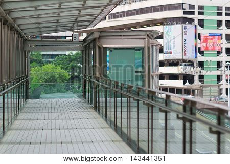 A Modern Flyover In Hong Kong