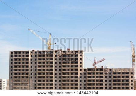 construction of a house in Novosibirsk, Russia