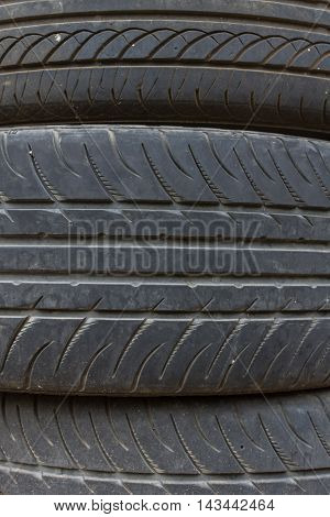 Car Tires Stack Up
