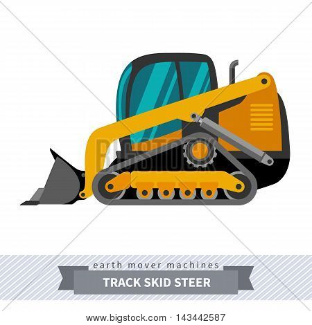 Skid Steer Loader Earth Mover Machine
