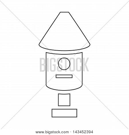 Bee hive icon in outline style isolated on white background