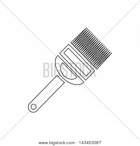 Fork for uncapping honeycombs icon in outline style isolated on white background