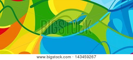 Olympics and Paralympic Games Colorful abstract background. Vector. Brazil Summer color pattern. Rio. 2016 Holiday vector illustration. Kids Camp Olympic Sport. Paralympic pattern.