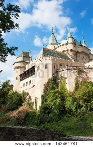 Historic castle Bojnice in the Slovak Republic. View of an old castle built in the 12th century.