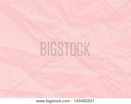 Art paper texture. Unique crumpled soft pink color of paper sheet for background.