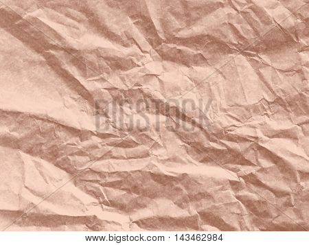 Art paper texture. Unique crumpled soft red brown color tone of paper sheet for background.