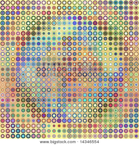 Abstract vector background illustration of multicolored dots poster