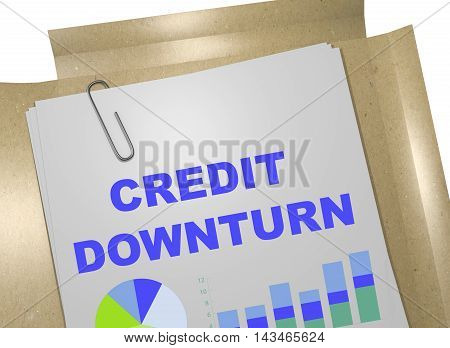 Credit Downturn Concept