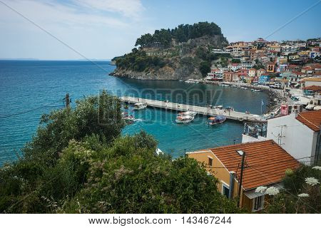 Cityscape With Sea At Parga In Greece