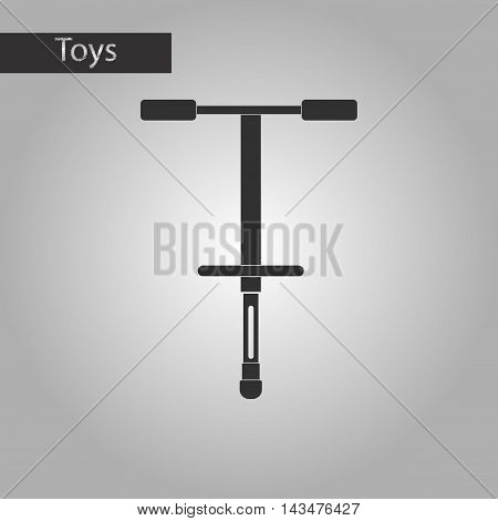 black and white style Kids toy pogo stick