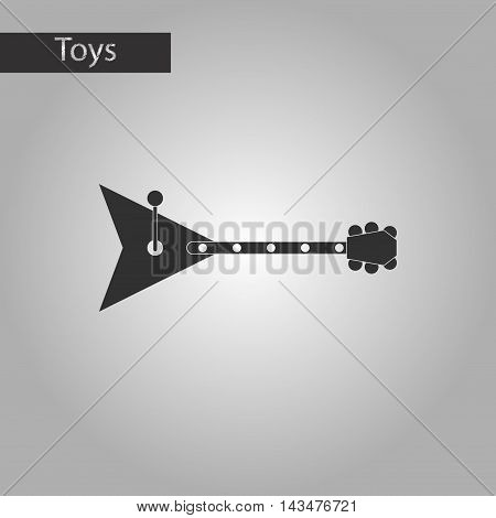 black and white style Kids toy balalaika