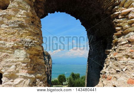 A slot in caves of Catullus, Italy