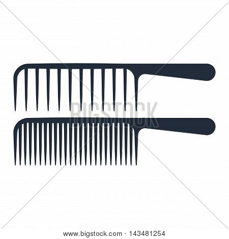 Fashion professional comb icon and style comb hairdresser care icon equipment. Professional comb icon barbershop flat vector illustration.