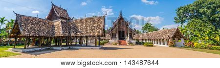 Panorama Shot Of Wat Ton Kain,in Chiang Mai Thailand.