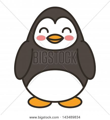 cute penguin animal tender isolated icon vector illustration design