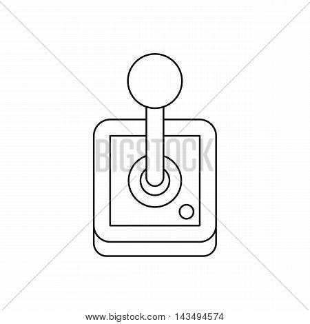 Stick shift, transmission icon in outline style isolated on white background