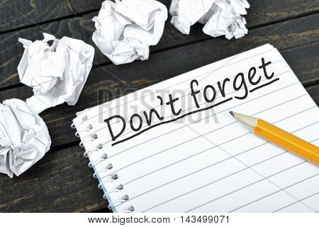 Don't forget text on notepad and crippled paper