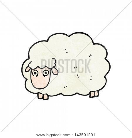 freehand textured cartoon farting sheep