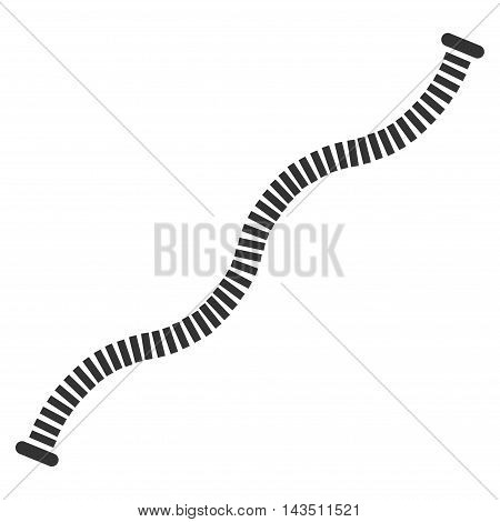 Flexible Pipe icon. Vector style is flat iconic symbol, gray color, white background.
