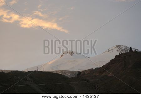 Sunset Clouds Above Mt. Elbrus
