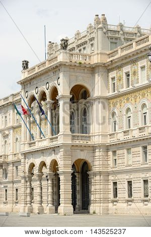 Governmental palace on the main square of Trieste Italy.