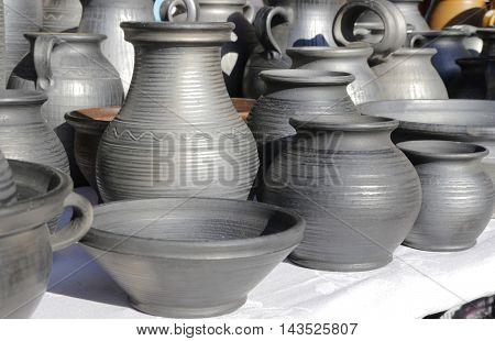 earthen vessels on the sunlight . .